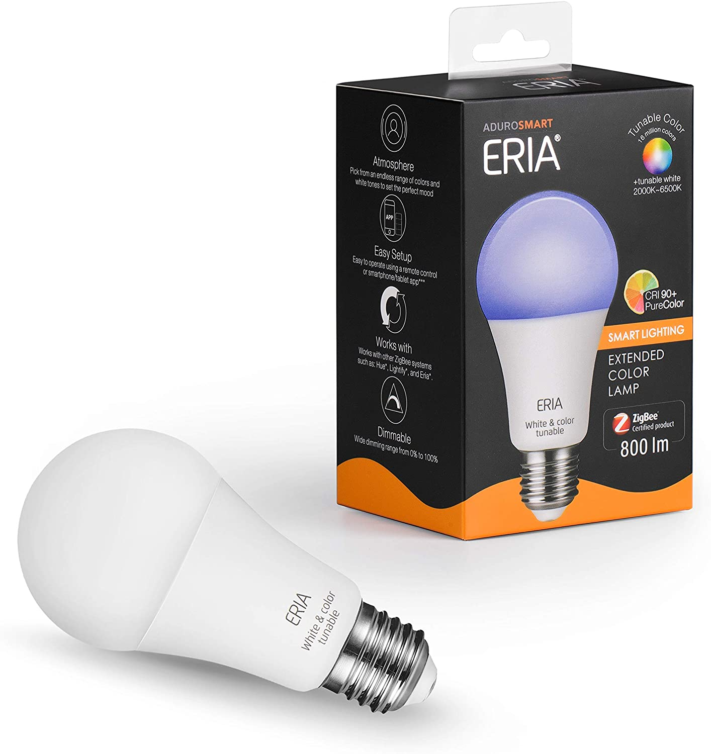 ERIA Colors and White A19 60W Bulb