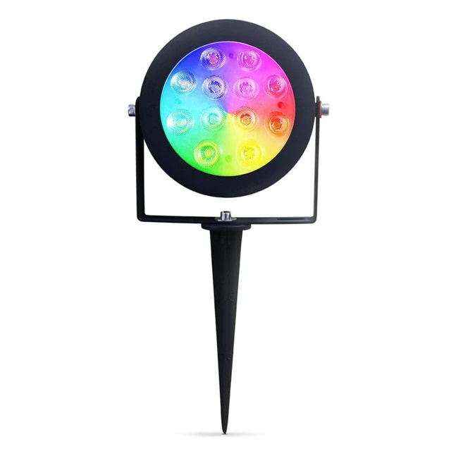 12W Dual White and Color Garden Lamp Pro