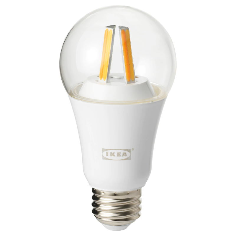Tradfri LED bulb E27 806 lumen, dimmable, white spectrum, clear