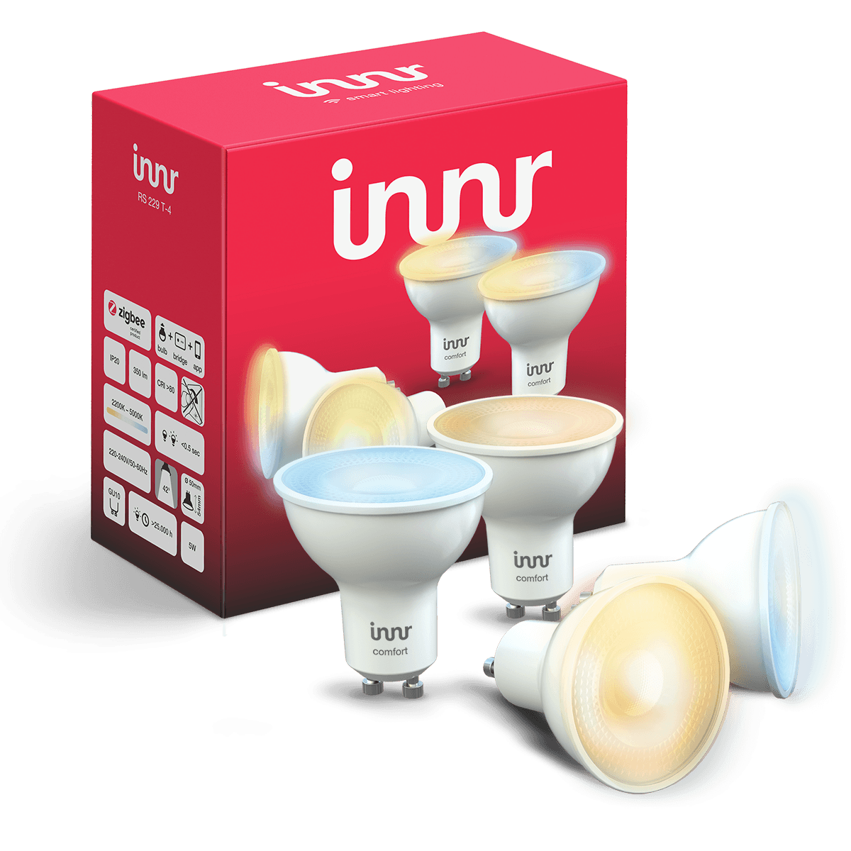 Tunable White Spot Single Lens GU10 Bulb