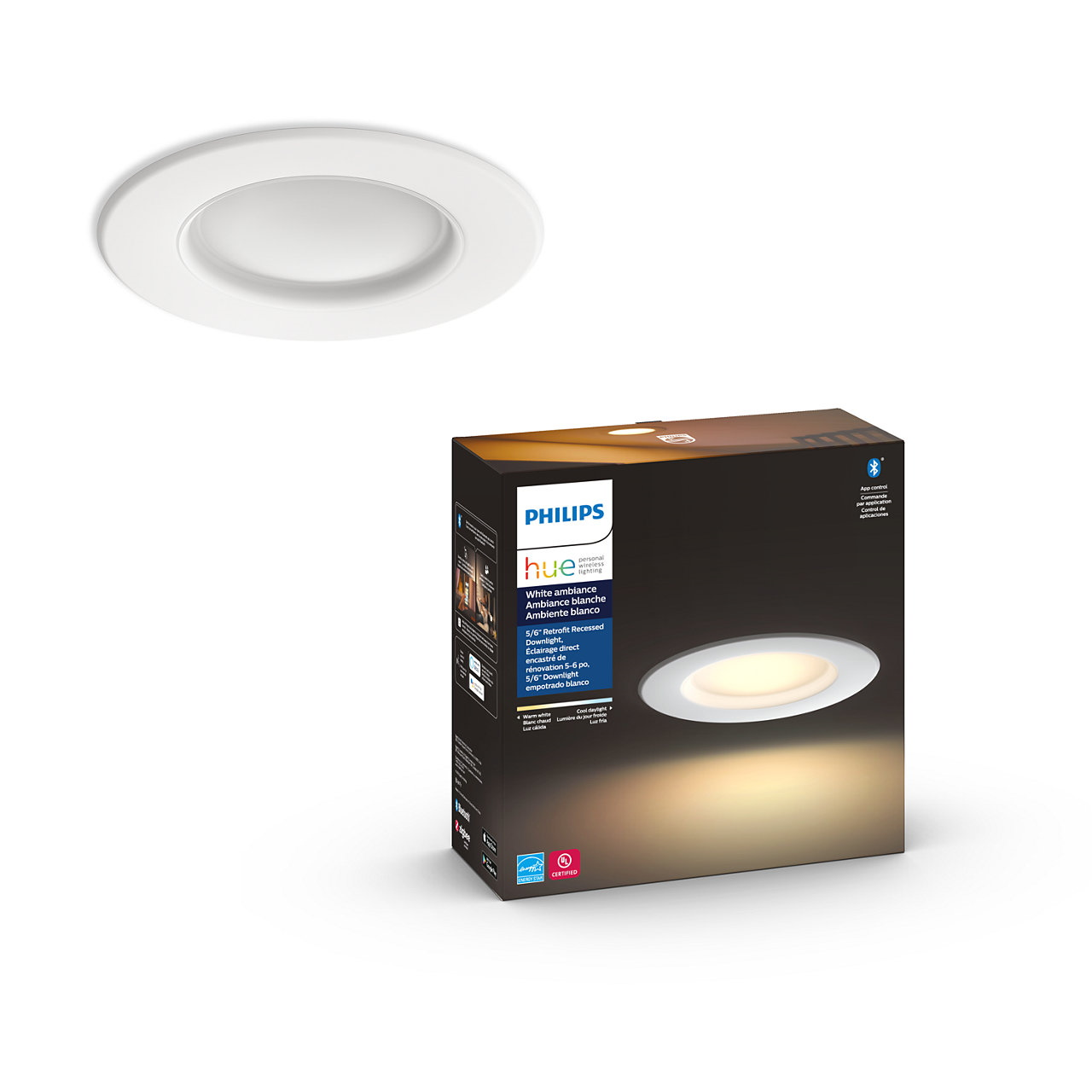 Hue Downlight 5/6 inch White Ambiance