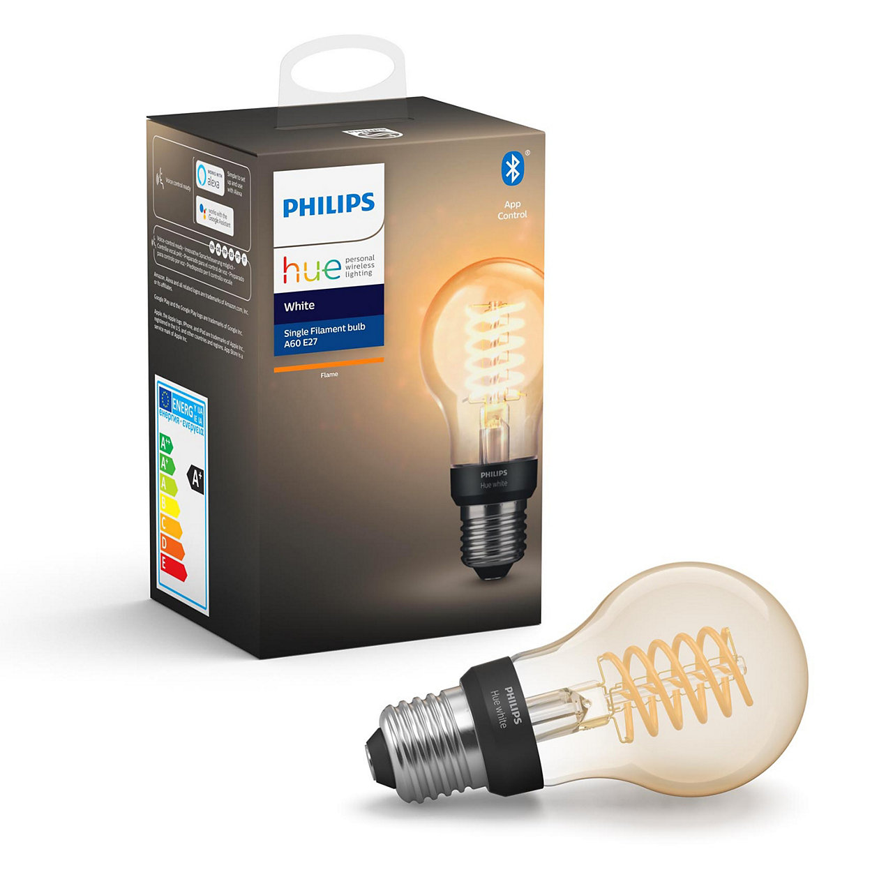 Hue White Filament Bulb A60 E27 Bluetooth