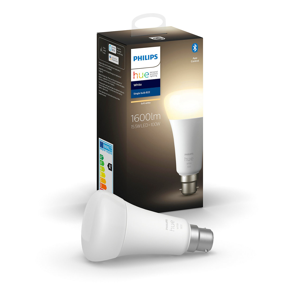 Hue White Bulb A67 B22 1600lm with Bluetooth